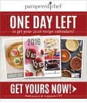 Recipe Calendar One Day Left Consultant Email