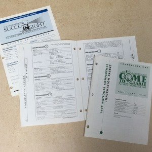 Agenda booklets for Leadership and National Conference.