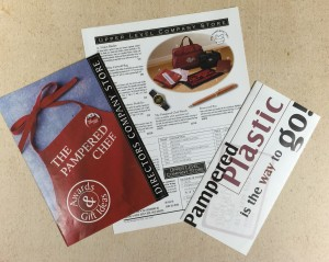 Director and Upper Level Company Store flyers and credit card pamphlet.