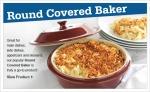 Round Covered Baker