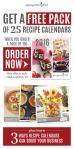 Recipe Calendar Order Now Consultant Email